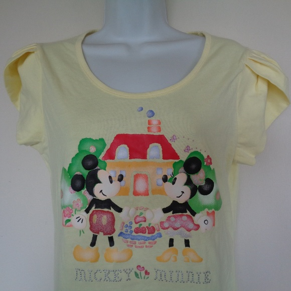 4d756ff9 Disney Tops | Yellow Mickey Minnie Mouse Home Top | Poshmark